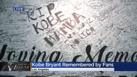 Memorials grow outside Staples Center as fans, community remember...